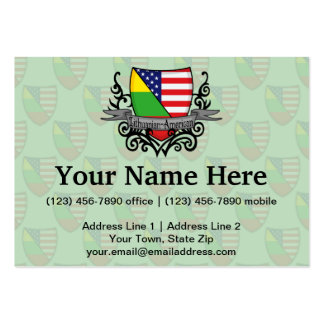 Lithuanian-American Shield Flag Business Cards