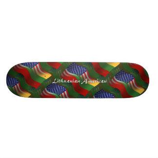 Lithuanian-American Waving Flag Skate Board Decks