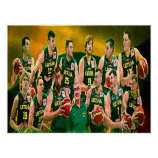 Lithuanian Basketball Team 2015 Poster