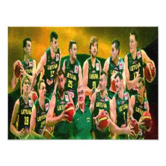 Lithuanian Basketball Team 2015 Print Photo Art