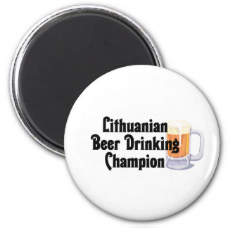 Lithuanian Beer Drinking Champion 6 Cm Round Magnet