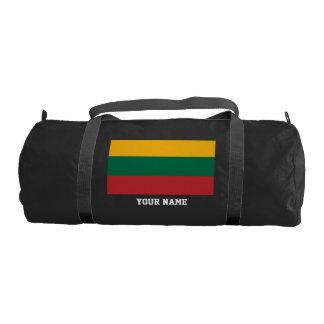 Lithuanian flag gym bag