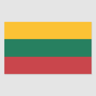 Lithuanian Flag Rectangular Sticker