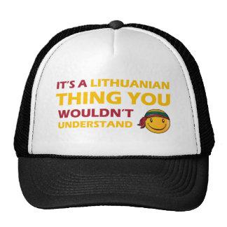 LITHUANIAN smiley design Cap