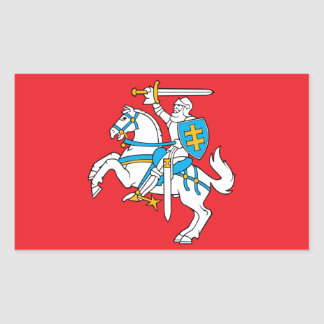 Lithuanian State Flag Rectangular Sticker