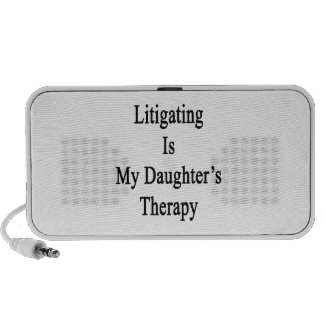 Litigating Is My Daughter's Therapy iPhone Speaker
