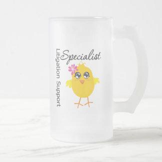 Litigation Support Specialist Chick 16 Oz Frosted Glass Beer Mug