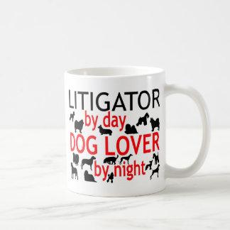 Litigator Dog Lover Basic White Mug