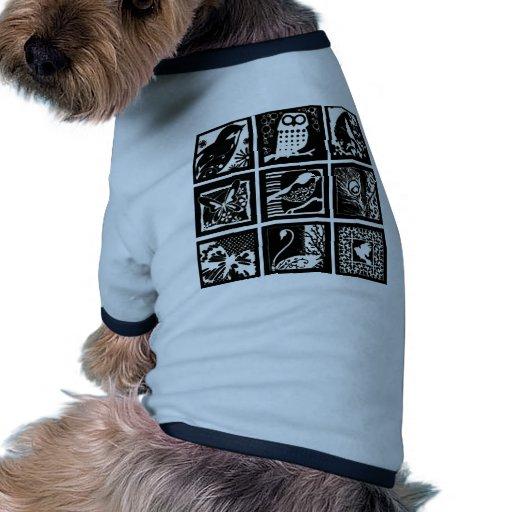 Lito birds - Birds Etching Doggie Tee Shirt