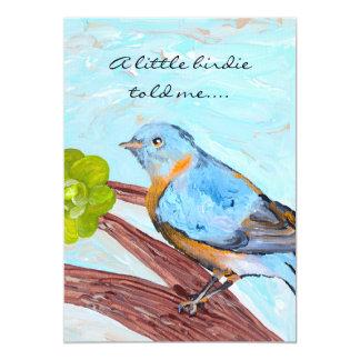 """Litte Birdie Baby Shower Invitation 5"""" X 7"""" Invitation Card"""