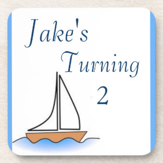 Litte Sailboat Nautical Birthday Coaster