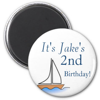 Litte Sailboat Nautical Birthday Magnet