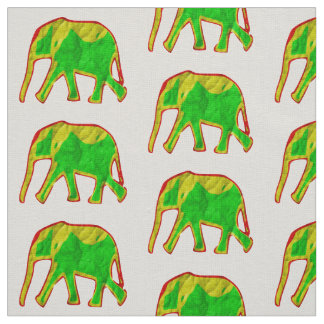 Little african elephant fabric