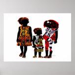 Little African Girls Poster