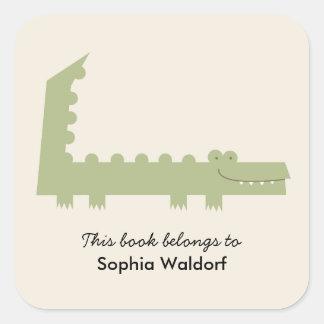 Little Alligator Square Sticker