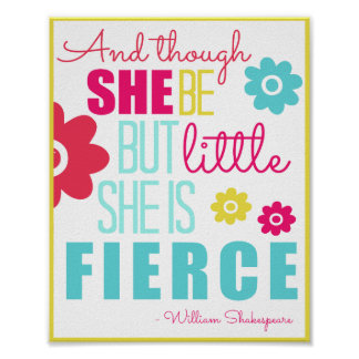 Little and Fierce - Bright & Colourful Poster