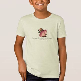 Little and Fierce Shakespeare Quote Girls T-Shirt