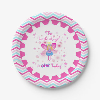 Little Angel 1st Birthday Paper Plates