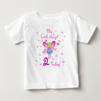 Little Angel 2nd Birthday Baby T-Shirt