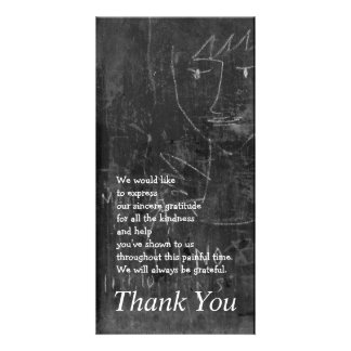 Little Angel 3 Child Drawing Sympathy Thank You Picture Card