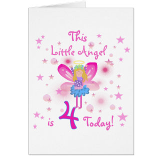 Little Angel 4th Birthday T-shirts and Gifts Card