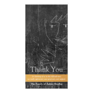 Little Angel 5 Child Drawing Sympathy Thank You Photo Card