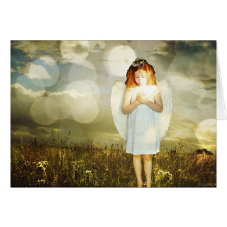 Little angel birthday card