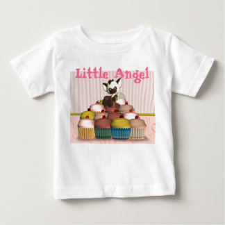 Little Angel, cupcake and cat, fairy cake T-shirt