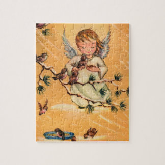 Little Angel Feeding Birds Jigsaw Puzzle