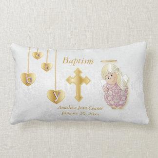 Little Angel Girl Baptism Design Lumbar Pillow