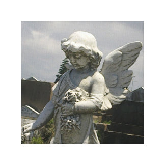 Little Angel Grave Canvas Print