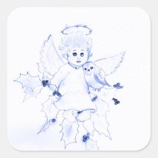 Little Angel in Blue Stickers