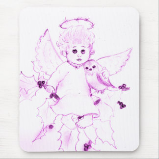 Little Angel in Pink Mouse Pad