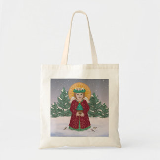Little Angel in the snow Tote