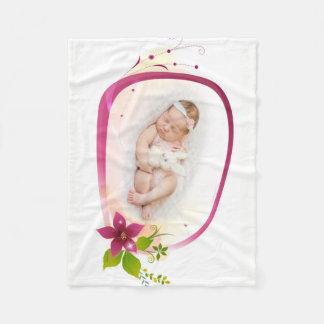 Little Angel Sleeping Custom Fleece Blanket, Small
