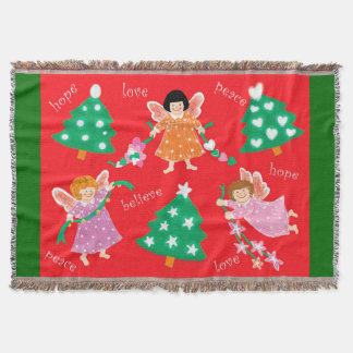 Little Angels Hope, Love, Peace and Believe Throw