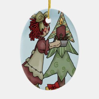 Little Annie Christmas Ceramic Ornament