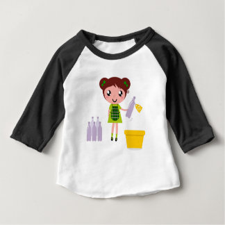 Little artistic girl with Bottle Baby T-Shirt
