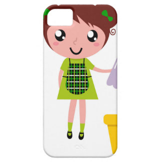 Little artistic girl with Bottle Barely There iPhone 5 Case