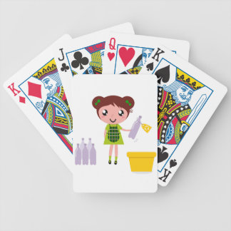 Little artistic girl with Bottle Bicycle Playing Cards