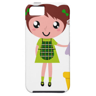 Little artistic girl with Bottle Case For The iPhone 5