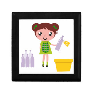 Little artistic girl with Bottle Gift Box