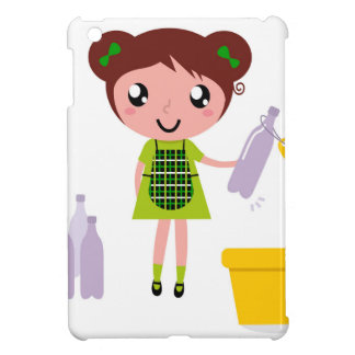 Little artistic girl with Bottle iPad Mini Cover