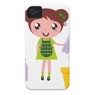 Little artistic girl with Bottle iPhone 4 Case-Mate Cases