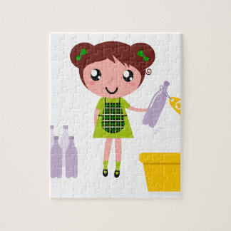 Little artistic girl with Bottle Jigsaw Puzzle