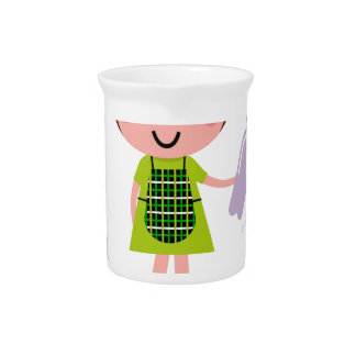 Little artistic girl with Bottle Pitcher