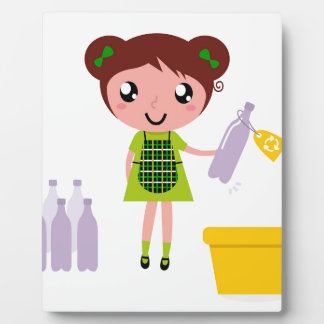 Little artistic girl with Bottle Plaque