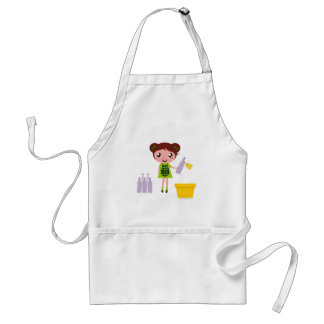Little artistic girl with Bottle Standard Apron