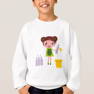 Little artistic girl with Bottle Sweatshirt