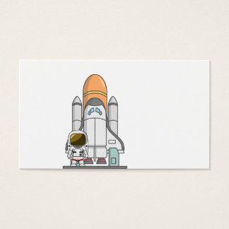 Little Astronaut & Spaceship Business Card